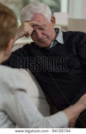 Resigned Elder Man