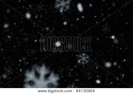 Snow On Night Sky