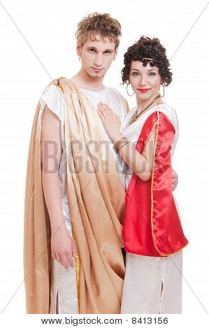 Portrait Of Couple In Greek Style