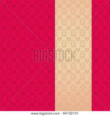 Pink and cream classical pattern background