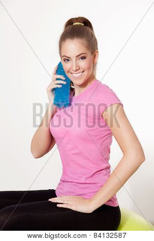 Happy Woman During Workout
