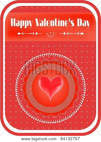 Valentines card with text