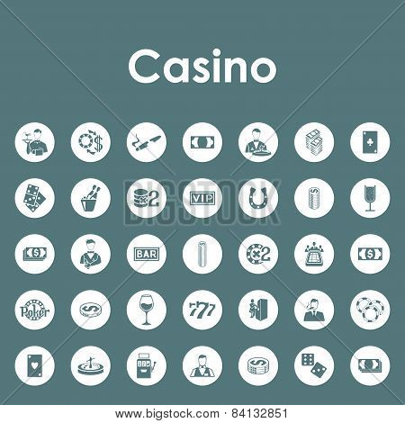 Set of casino simple icons