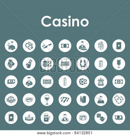 Set of casino simple icons
