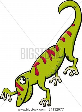 Gecko Reptile Cartoon Illustration