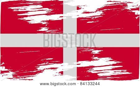 Flag Of Military Order Malta With Old Texture. Vector