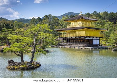 View of Kinkaku-ji (temple Of The Golden Pavilion) in Kyoto, Japan