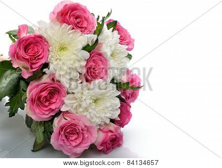Bouquet of of different flowers giftcard postcard