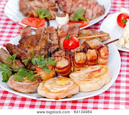 Grilled meat - closeup