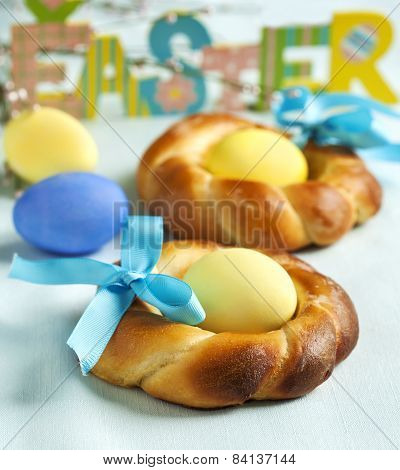 Easter Small Sweet Bread Wreath