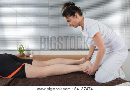 Man receiving a shiatsu massage