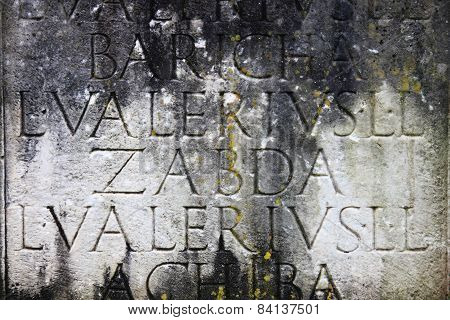 Ancient Latin Inscription