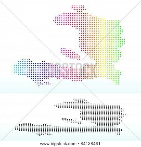 Map Of Haiti With Dot Pattern