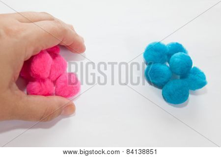Hand Grabbing Pink Set