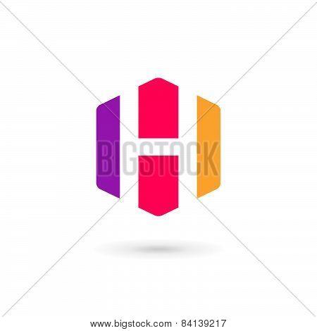 Letter H Cube Logo Icon Design Template Elements