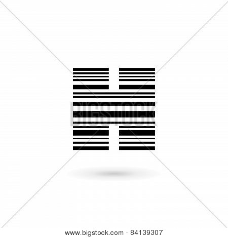 Letter H Barcode Logo Icon Design Template Elements