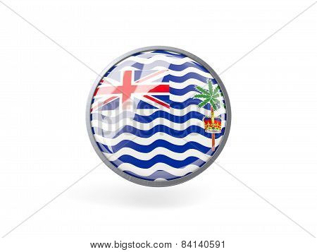 Round Icon With Flag Of British Indian Ocean Territory