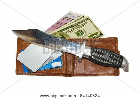 Knife And Wallet