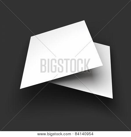 Magazine, booklet, postcard, business card or brochure mockup template.