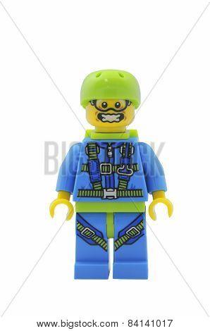 Skydiver Lego Minifigure