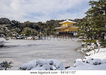 Kinkakuji Temple During Winter Time