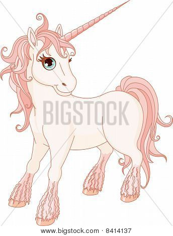 Magic white unicorn