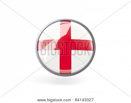 Round Icon With Flag Of England