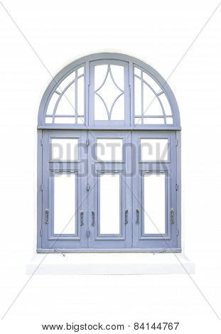 Blue Classical Window On White