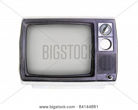 Old Television On White