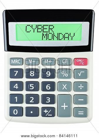 Calculator With Cyber Monday