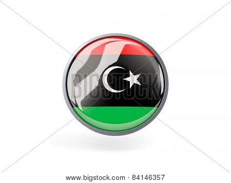 Round Icon With Flag Of Libya