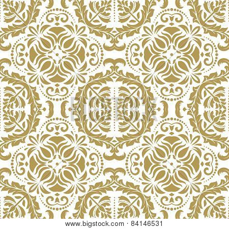 Wallpaper in the style of Baroquen. Golden Abstract  Background