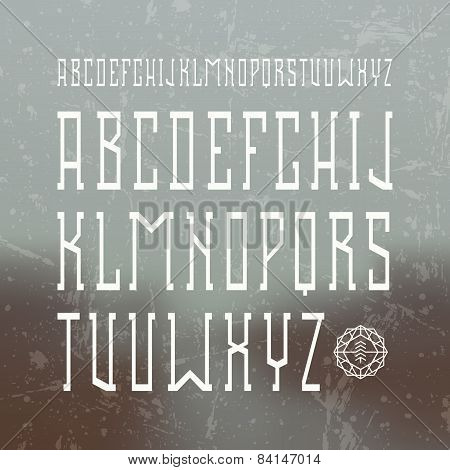Medium Serif Font In Retro Style