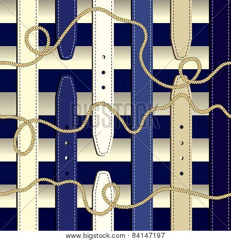 Fashionable pattern in nautical style