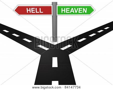Path to heaven and hell