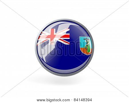 Round Icon With Flag Of Montserrat