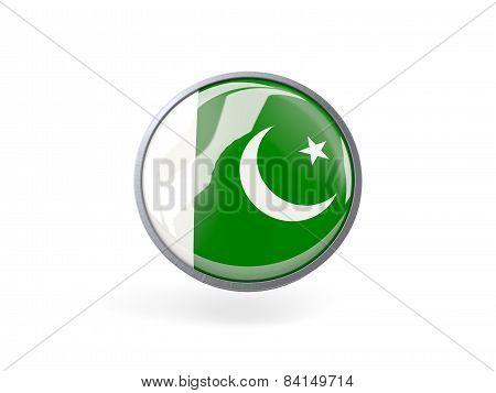 Round Icon With Flag Of Pakistan