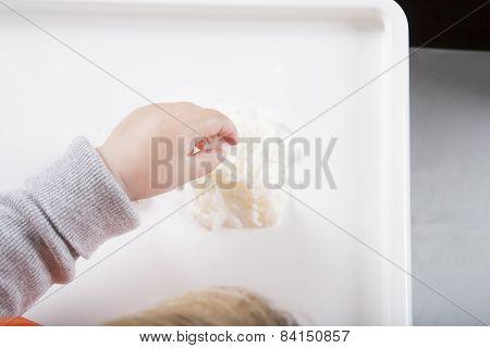 Hand On Rice