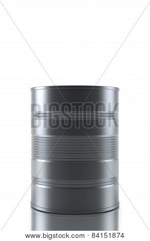 Blank aluminum food can isolated over white background