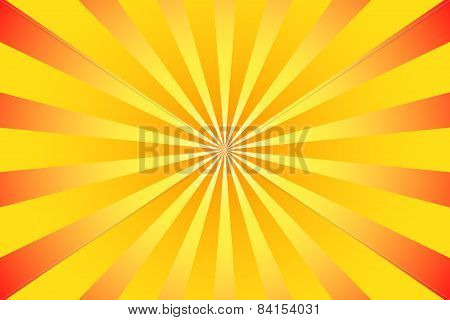 Orange Red White Rays With Color Gradient Illustration
