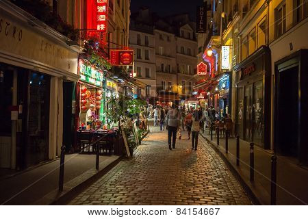 Latin Quarter of Paris France.