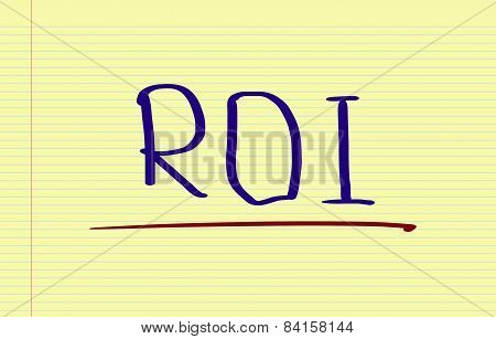 Roi - Return On Investment Concept