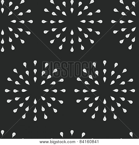 Sunburst background, ink hand drawn pattern