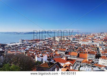 Lisbon spring skyline