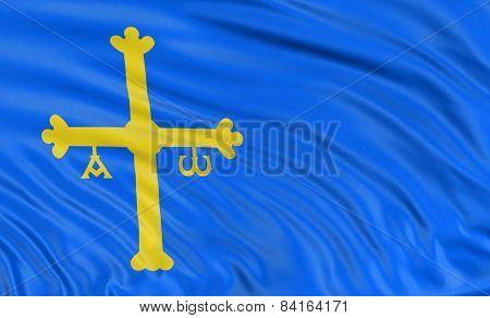 3D Principality of Asturias flag