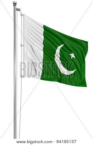 3D flag of Pakistan
