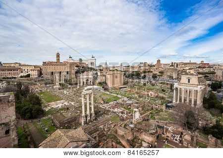 Roman Forum, View From Palatine Hill