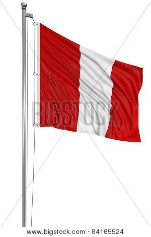3D Peruvian flag