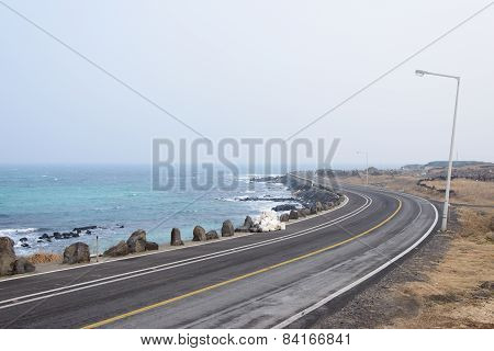 Coastal Road In Jeju Island