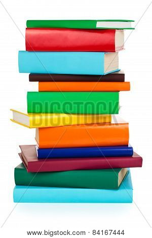 Stacked Colorful Books.